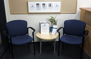 sitting area for patients